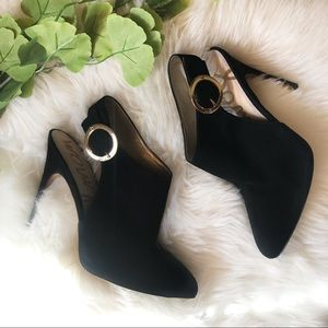 Sam Edelman Julian Black Slingback Booties | 9.5